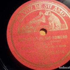 Discos de pizarra: PIZARRA LA VOZ DE SU AMO DA 4314 - CONCHITA PIQUER - COPLAS DE PEDRO ROMERO, JUDAS. Lote 210561245