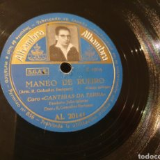 Discos de pizarra: 78 RPM AIRES D, TERRA FOLKLORE GALLEGO. Lote 210581083