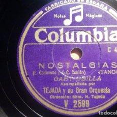 Discos de pizarra: PIZARRA COLUMBIA V 2599 - GABY UBILLA - COMO TE QUIERO, NOSTALGIAS. Lote 210585605