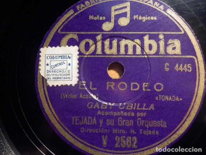 PIZARRA COLUMBIA V 2562 - GABY UBILLA - EL RODEO, ALI BABA (Música - Discos - Pizarra - Flamenco, Canción española y Cuplé)