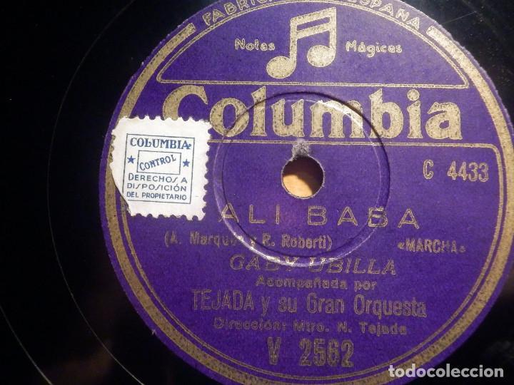 Discos de pizarra: PIZARRA COLUMBIA V 2562 - GABY UBILLA - El rodeo, Ali baba - Foto 2 - 210586120