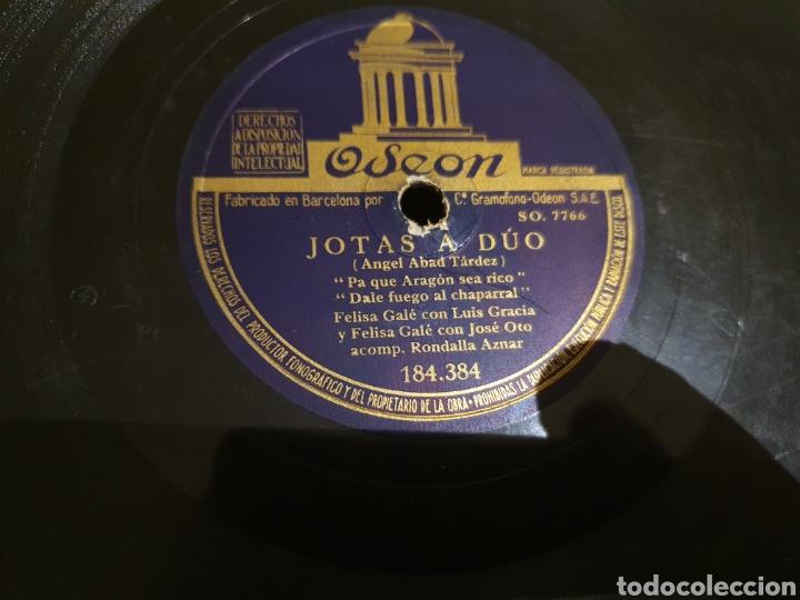 Discos de pizarra: 78 RPM Jotas A Duo Felisa Gale/ Jose Oto - Foto 3 - 210589492