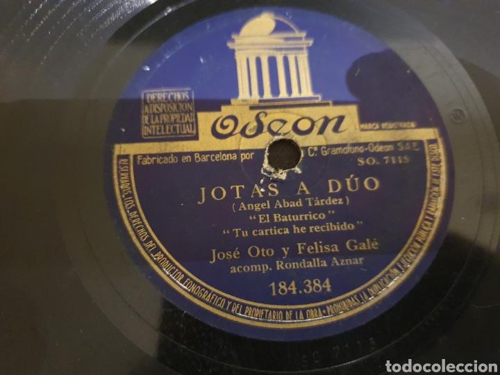 78 RPM JOTAS A DUO FELISA GALE/ JOSE OTO (Música - Discos - Pizarra - Flamenco, Canción española y Cuplé)
