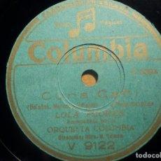 Discos de pizarra: PIZARRA COLUMBIA V 9122 - LOLA FLORES, CUNA CAÑI, LERELE. Lote 210599046