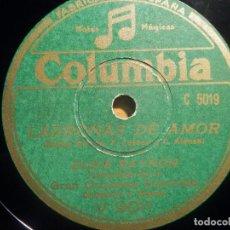 Discos de pizarra: PIZARRA COLUMBIA V 9011 - REVISTA MUSICAL LADRONAS DE AMOR - ELSIE BAYRON, EL ACHICHARREN, BLUES. Lote 210600725