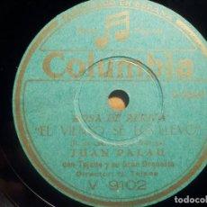 Discos de pizarra: PIZARRA COLUMBIA V 9102 - JUAN PALAU, ROSA DE AFRICA, EL VIENTO SE LO LLEVÓ - AL COMPÁS DEL TU-RU-RU. Lote 210601011
