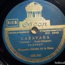 Discos de pizarra: PIZARRA ODEON 203.541 - ORQUESTA MARTIN DE LA ROSA - CARAVANA, SERENATA DE LAS MULAS. Lote 210617047