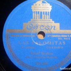 Discos de pizarra: PIZARRA ODEON 184.483 - RAFAEL MEDINA, HACE UN AÑO, LAS PALOMITAS. Lote 210656482