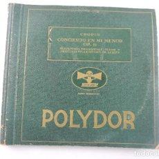 Disques en gomme-laque: BOX CON 4 DISCOS DE PIZARRA CHOPIN CONCIERTO EN MI MENOR POLYDOR. Lote 210669372
