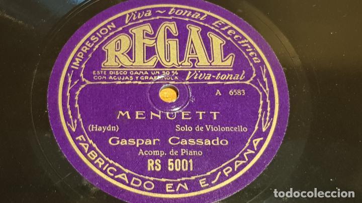 Discos de pizarra: PIZARRA !! GASPAR CASSADO / CHANSON VILLAGEOISE-MENUETT / SOLO VIOLONCELLO / 25 CM - Foto 2 - 210670385