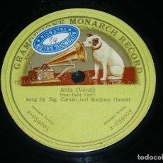 Discos de pizarra: DISCO 78 RPM - GMR GREEN - CARUSO - GADSKI - FINAL DUET I PARTE - AIDA - VERDI - OPERA - PIZARRA. Lote 210686294