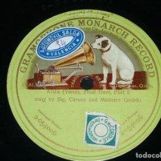 Discos de pizarra: DISCO 78 RPM - GMR GREEN - CARUSO - GADSKI - FINAL DUET II PARTE - AIDA - VERDI - OPERA - PIZARRA. Lote 210686756