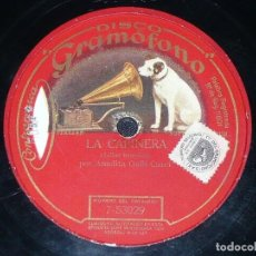 Discos de pizarra: DISCO 78 RPM - GRAMOFONO - AMELITA GALLI CURCI - SOPRANO - LA CAPINERA - BENEDICT - OPERA - PIZARRA. Lote 210691876