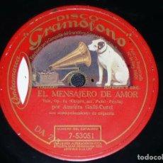 Discos de pizarra: DISCO 78 RPM - GRAMOFONO - AMELITA GALLI CURCI - SOPRANO - LA SONAMBULA - BELLINI - OPERA - PIZARRA. Lote 210952399