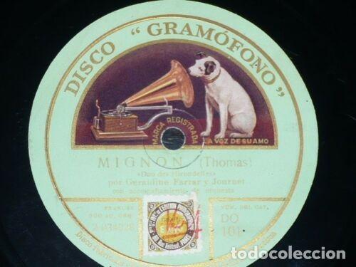 Discos de pizarra: DISCO 78 RPM - GRAMOFONO - CARUSO - FARRAR - SCOTTI - VIAFORA - LA BOHEME - MIGNON - PIZARRA - Foto 2 - 210954040