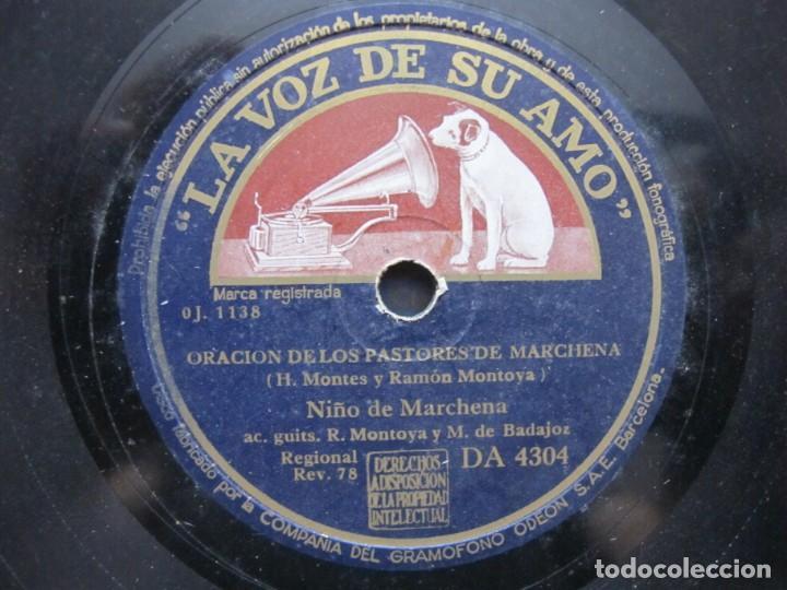 NIÑO MARCHENA,/ ORACION DE LOS PASTORES DE MARCHENA / FANDANGOS (LA VOZ DE SU AMO DA 4304) (Música - Discos - Pizarra - Flamenco, Canción española y Cuplé)