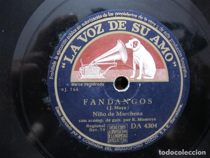 Discos de pizarra: NIÑO MARCHENA,/ ORACION DE LOS PASTORES DE MARCHENA / FANDANGOS (LA VOZ DE SU AMO DA 4304) - Foto 3 - 211265295
