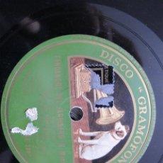 Discos de pizarra: NIÑO MARCHENA,/ FANDANGOS DEL JARDINERO / AL SON DE MI PASODOBLE (GRAMOFONO AE 3883). Lote 211266209