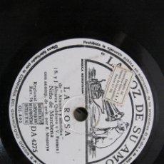Discos de pizarra: NIÑO MARCHENA / LA ROSA / FANDANGOS (LA VOZ DE SU AMO DA 4275). Lote 211266429