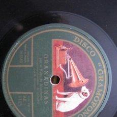 Discos de pizarra: NIÑO MARCHENA / GRANADINAS / FANDANGUILLOS DE HUELVA (GRAMOFONO AE 1125). Lote 211267392