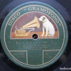Discos de pizarra: NIÑO MARCHENA / BULERIAS Nº 2 / TARANTAS DE LINARES (GRAMOFONO AE 1126). Lote 211267494