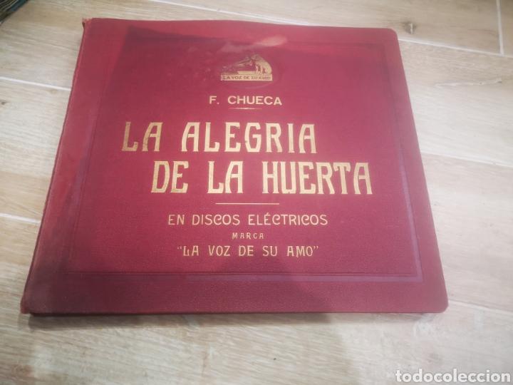 F. CHUECA LA ALEGRIA DE LA HUERTA, COMPLETA Y CON SU ESTUCHE. (Música - Discos - Pizarra - Clásica, Ópera, Zarzuela y Marchas)