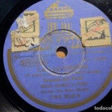 Discos de pizarra: PIZARRA ODEON - 183.302 - CELIA GÁMEZ - SCHOTIS DEL PICHI - LAS LEANDRAS, PASACALLES DE LOS NARDOS. Lote 211482115