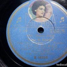 Discos de pizarra: COLUMBIA R 14334 - CARLOS CASARAVILLA, PUEDE QUE SI, NO - CELIA GAMEZ LUNA DE ESPAÑA - HOY COMO AYER. Lote 211483394