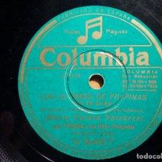Discos de pizarra: PIZARRA COLUMBIA V 9467 - MARÍA TERESA VALCARCEL - SYMPHONY, LOS ÚLTIMOS DE FILIPINAS, YO TE DIRÉ. Lote 211506222