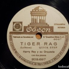 Discos de pizarra: PIZARRA ODEON 203.697 - HARRY ROY - CANADIAN CAPERS, TIGER RAG. Lote 211506871