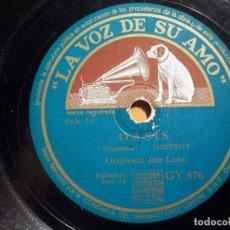 Discos de pizarra: PIZARRA LA VOZ DE SU AMO GY 576 - JOE LOSS - IN THE MOOD, EN FORMA , OASIS. Lote 211508349