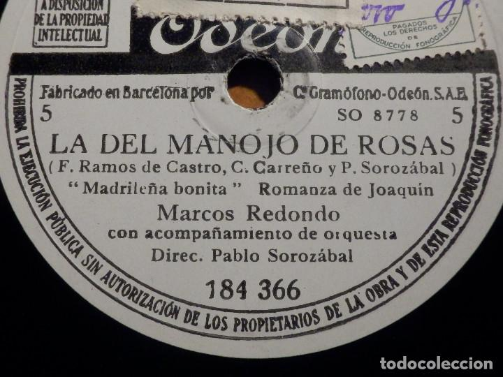 Discos de pizarra: 3 PIZARRAs ODEON 184.365-367 - ZARZUELA La del manojo de rosas, Marcos Redondo y María Teresa Planas - Foto 3 - 211520262