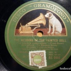 Discos de pizarra: PIZARRA GRAMOFONO AE 2892 - PAGAN LOVE SONG, THE WEDDING OF THE PAINTED DOLL. Lote 211520695