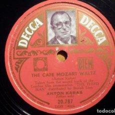Discos de pizarra: PIZARRA DECCA 20.787 - ANTON KARAS - THE HARRY LIME - THE CAFE MOZART WALT. Lote 211521636