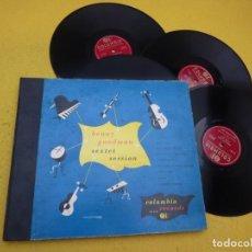 Disques en gomme-laque: 4 LP SHELLAC BENNY GOODMAN SEXTET SESSION - C-113 - BOX SET •VG+/EX/EX/EX/EX Ç. Lote 211663829