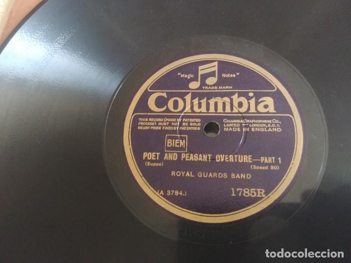 Discos de pizarra: DISCO DE PIZARRA COLUMBIA ROYAL GUADS BAND MIREN FOTOS - Foto 5 - 211676129