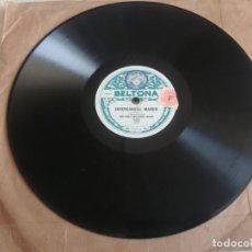 Discos de pizarra: DISCO DE PIZARRA BELTONA BELTONA MILITARY BAND MIREN FOTOS. Lote 211676318