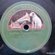 Discos de pizarra: NIÑA DE LA PUEBLA / MIS PENAS / PARA QUE SALGA DEL CORAZON (GRAMOFONO AE 4191). Lote 211817866