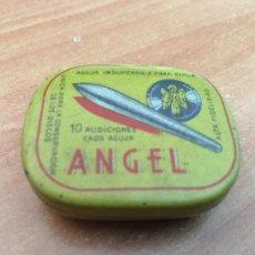 Discos de pizarra: CAJA METALICA AGUJAS PARA DISCOS PIEDRA ANGEL PARA PICK-UP (CRIP7). Lote 211831716