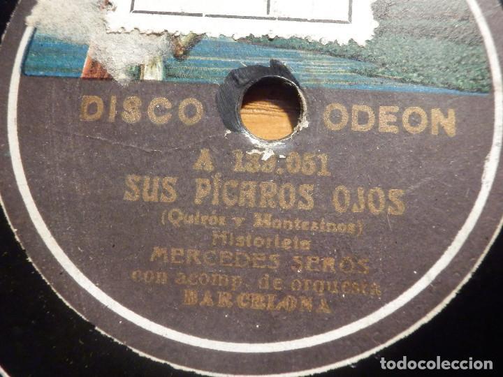 Discos de pizarra: PIZARRA GRAMÓFONO A 139.052 - Mercedes Serós - Sus pícaros ojos, Las majas de hoy - Foto 1 - 212205643