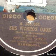 Discos de pizarra: PIZARRA GRAMÓFONO A 139.052 - MERCEDES SERÓS - SUS PÍCAROS OJOS, LAS MAJAS DE HOY. Lote 212205643