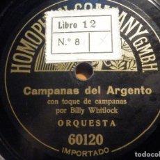 Discos de pizarra: PIZARRA HOMOPHON 60120 - CAMPANAS DEL ARGENTO, LA REINA DEL BAILE, BILLY WHITLOCK,. Lote 212211218