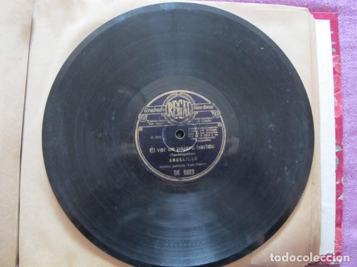 Discos de pizarra: ANGELILLO / EL VER UN PAJARO HERIDO / DAME ESA FLOR QUE TU LLEVAS (REGAL DK 8623) - Foto 2 - 212236065