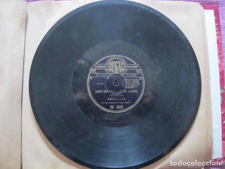 Discos de pizarra: ANGELILLO / EL VER UN PAJARO HERIDO / DAME ESA FLOR QUE TU LLEVAS (REGAL DK 8623) - Foto 4 - 212236065