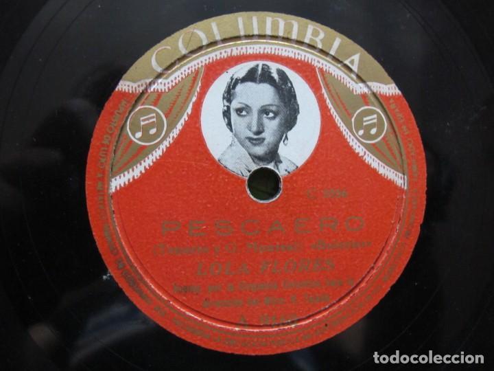 LOLA FLORES / PESCAERO / CUATRO SEVILLANAS DE BAILE (COLUMBIA A 9160) (Música - Discos - Pizarra - Flamenco, Canción española y Cuplé)