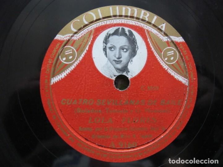 Discos de pizarra: LOLA FLORES / PESCAERO / CUATRO SEVILLANAS DE BAILE (COLUMBIA A 9160) - Foto 3 - 212237070
