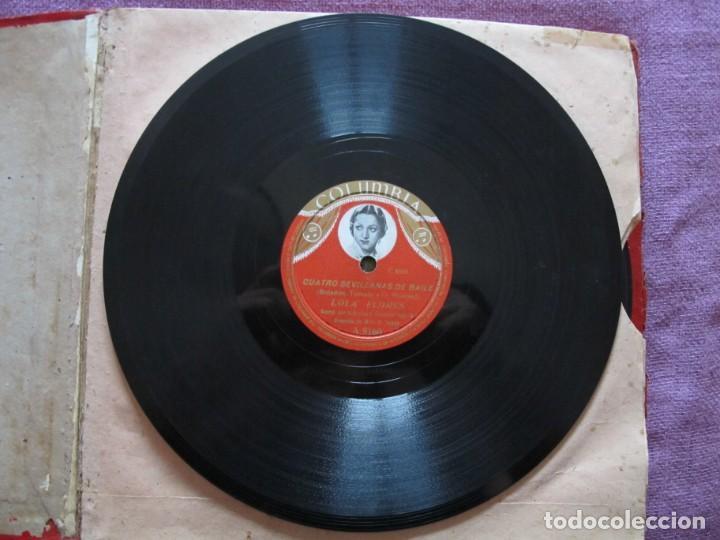 Discos de pizarra: LOLA FLORES / PESCAERO / CUATRO SEVILLANAS DE BAILE (COLUMBIA A 9160) - Foto 4 - 212237070