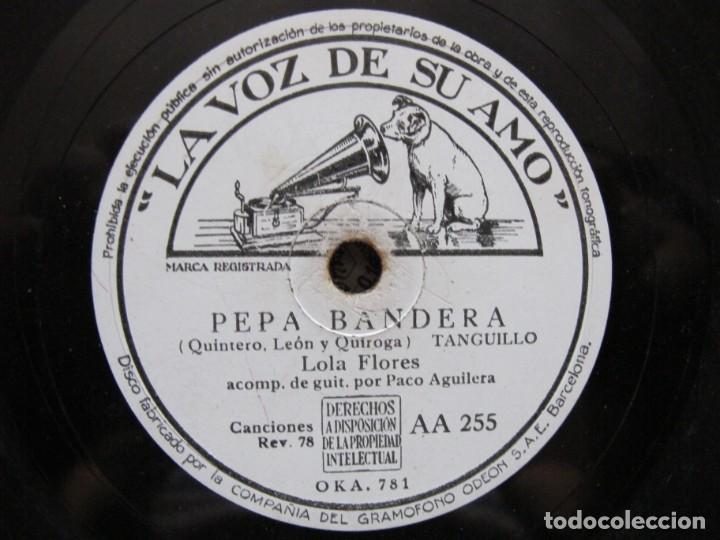 LOLA FLORES / PEPA BANDERA / JURAMENTO TE DARE (LA VOZ DE SU AMO AA 255) (Música - Discos - Pizarra - Flamenco, Canción española y Cuplé)