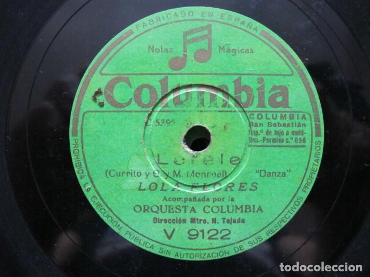 LOLA FLORES / LERELE / CUNA CAÑI (COLUMBIA V 9122) (Música - Discos - Pizarra - Flamenco, Canción española y Cuplé)
