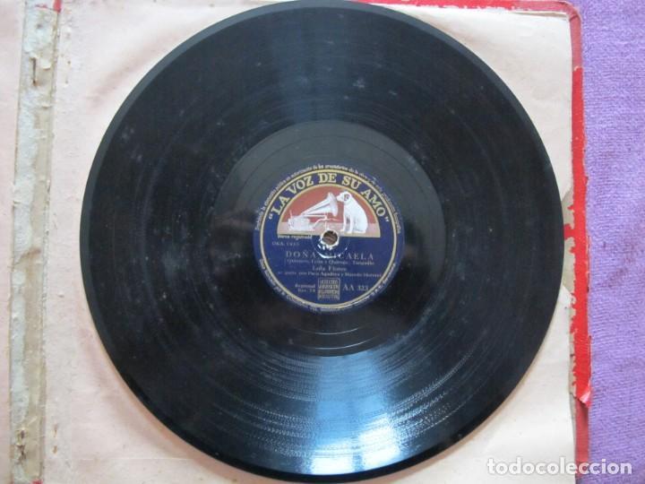 Discos de pizarra: LOLA FLORES / DOÑA MICAELA / ¡AY LOLA! (LA VOZ DE SU AMO AA 323) - Foto 2 - 212237647